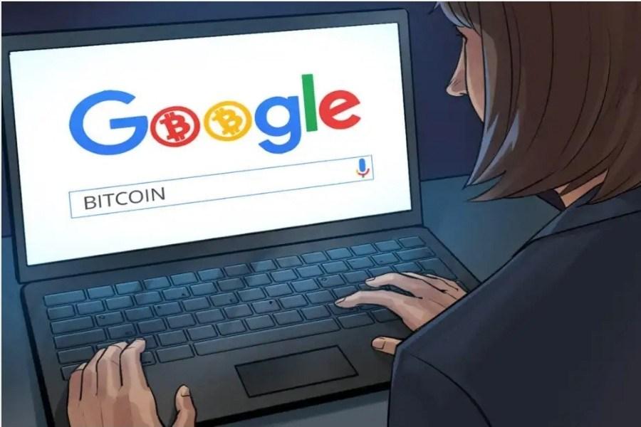 تصویر گوگل دوباره تبلیغات رمزارزی را اجرا می کند