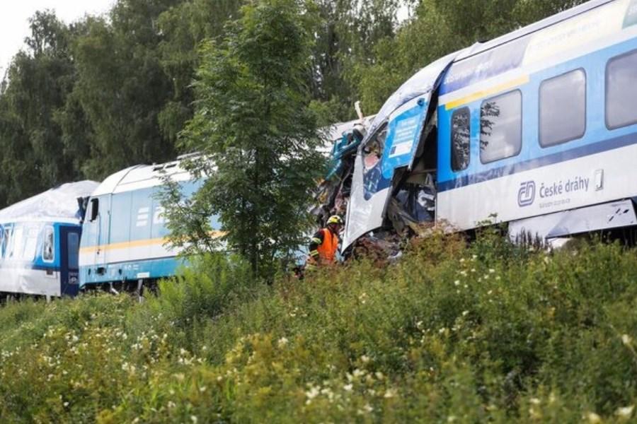 تصویر وقوع سانحه ریلی مرگبار در جمهوری چک