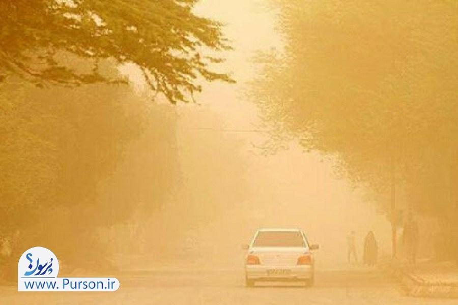تصویر گرد و غبار وحشتناک تا ساعتی دیگر در راه تهران!
