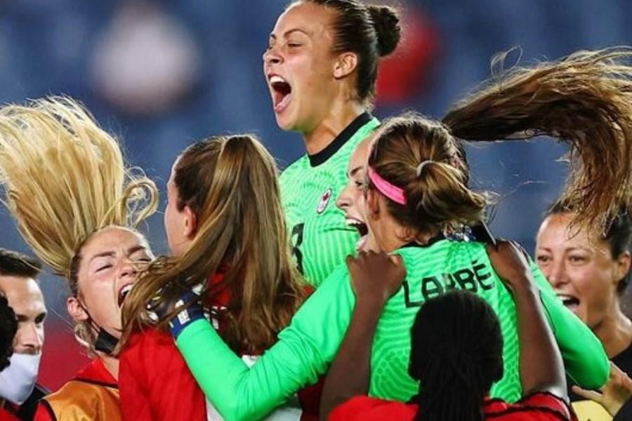 کانادا به قهرمانی فوتبال زنان المپیک رسید