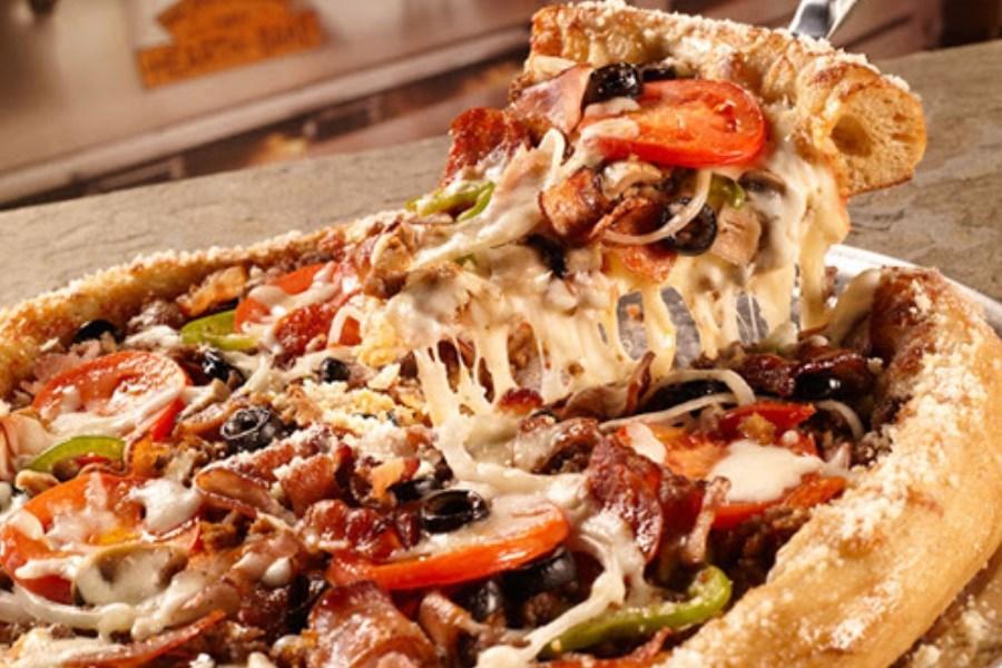 تصویر طرز تهیه پیتزای آمریکایی