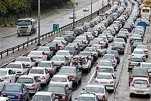تصویر  ترافیک سنگین در آزادراه قزوین - کرج