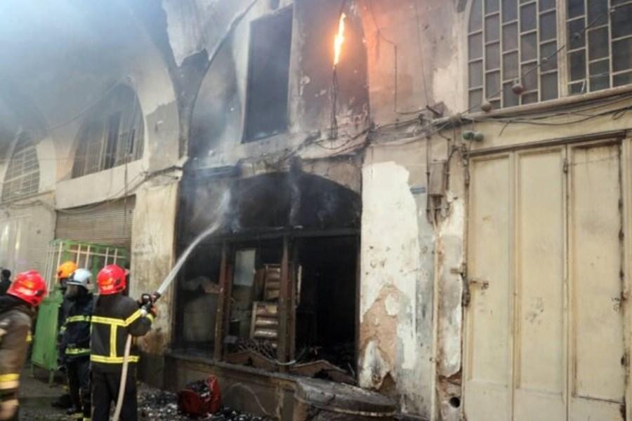 آتشسوزی در بازار فرشفروشهای اصفهان