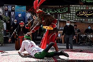 تصویر  تعزیه روز عاشورا در شهر سنجان