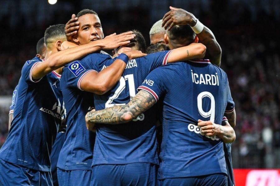 تصویر مسی در ترکیب پاریسی ها مقابل منچسترسیتی قرار گرفت