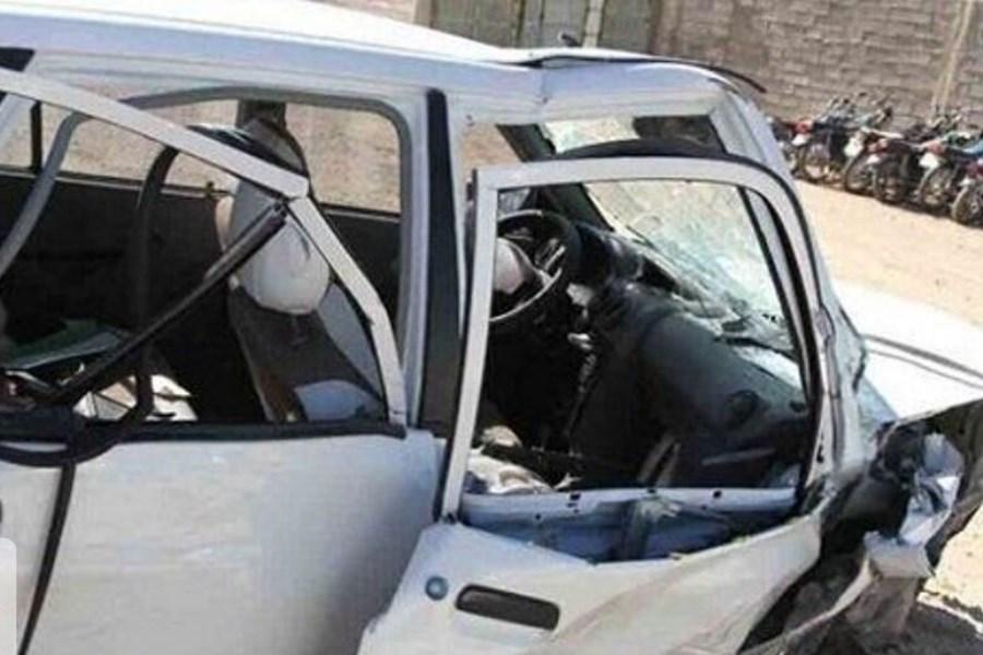 یک کشته در حادثه واژگونی خودرو در جیرفت