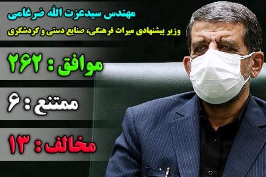 ضرغامی به عنوان وزیر میراث فرهنگی، صنایع دستی و گردشگری انتخاب شد