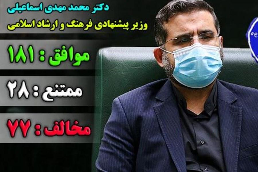 اسماعیلی وزیر فرهنگ و ارشاد اسلامی شد