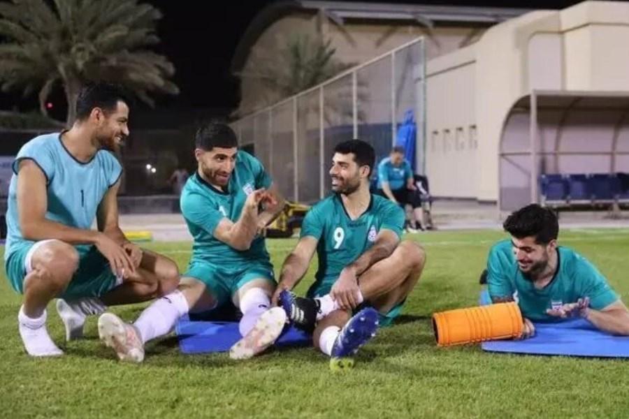 برگزاری تمرین تیم ملی در زمین شباب الاهلی
