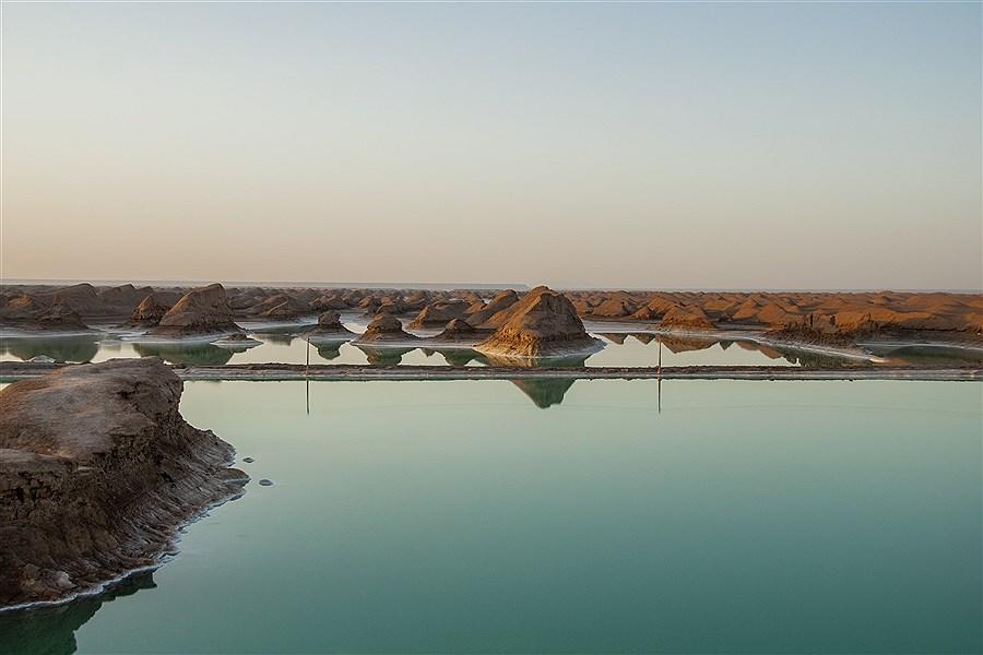 """دریاچه شگفت انگیز """"شهداد کرمان"""" در دل کویر لوت"""