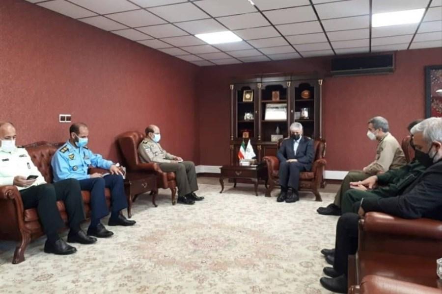 تصویر دیدار سجادی با مسئولان سازمان تربیت بدنی نیروهای مسلح