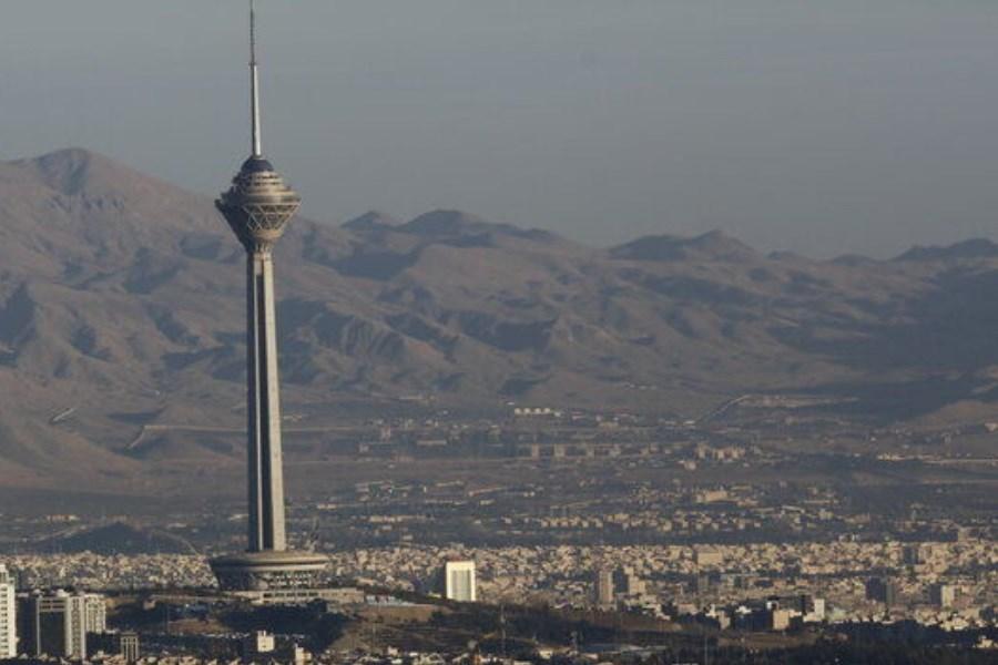 تصویر کیفیت هوای تهران «قابل قبول» است