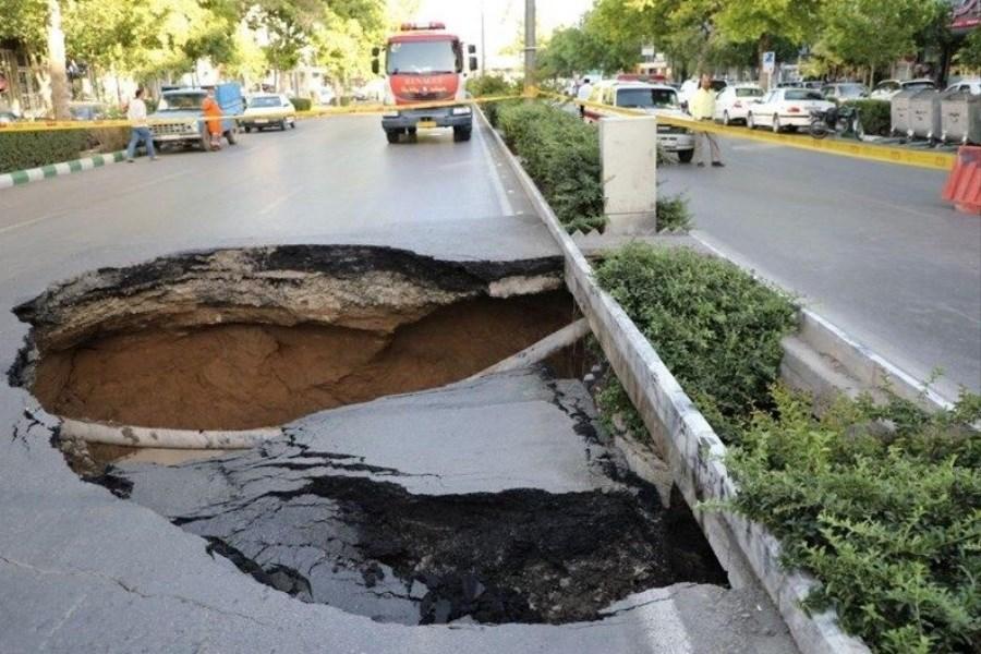خطر جدی فرو نشست زمین در شمال اصفهان