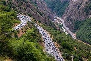 تصویر  ترافیک در مسیرهای ییلاقی شمال
