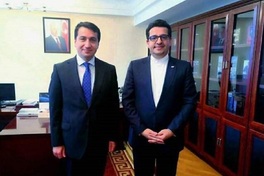 سفیر جمهوری اسلامی ایران با دستیار رئیس جمهور آذربایجان دیدار کرد