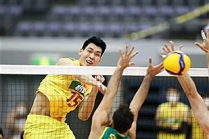تصویر  تیم ملی والیبال چین، ژاپن را شکست داد