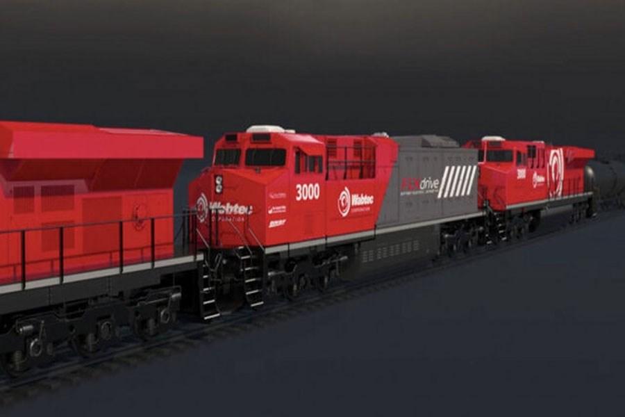 تصویر رونمایی از نخستین قطار باری برقی جهان