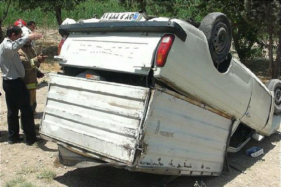 یک کشته در پی واژگونی وانت پیکان در محور ازنا_الیگودرز