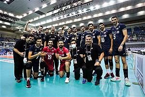 تصویر تبریک رسانه پرسون برای قهرمانی تیم ملی والیبال ایران