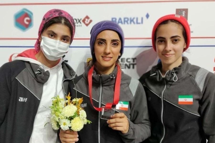 بانوی سنگنورد ایرانی مدال برنز جهان را به گردن آویخت