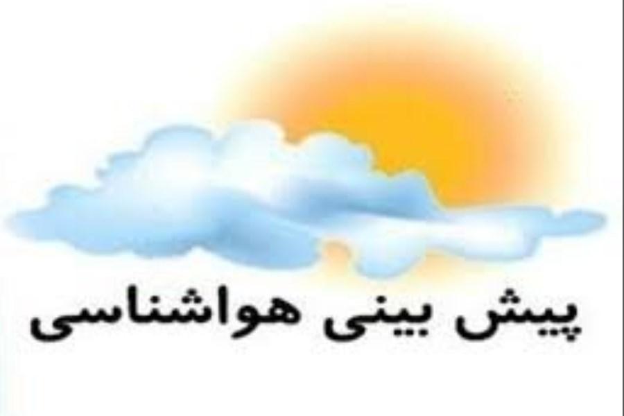 تصویر احتمال رگبار پراکنده و رعد و برق در ارتفاعات مرکزی و جنوب استان کرمان