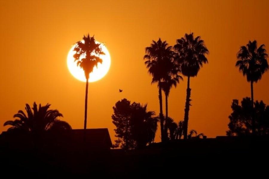 تصویر افزایش دمای استان خوزستان