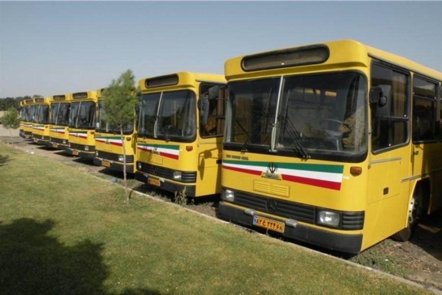 تصویر ناوگان اتوبوسرانی پایتخت در آماده باش است