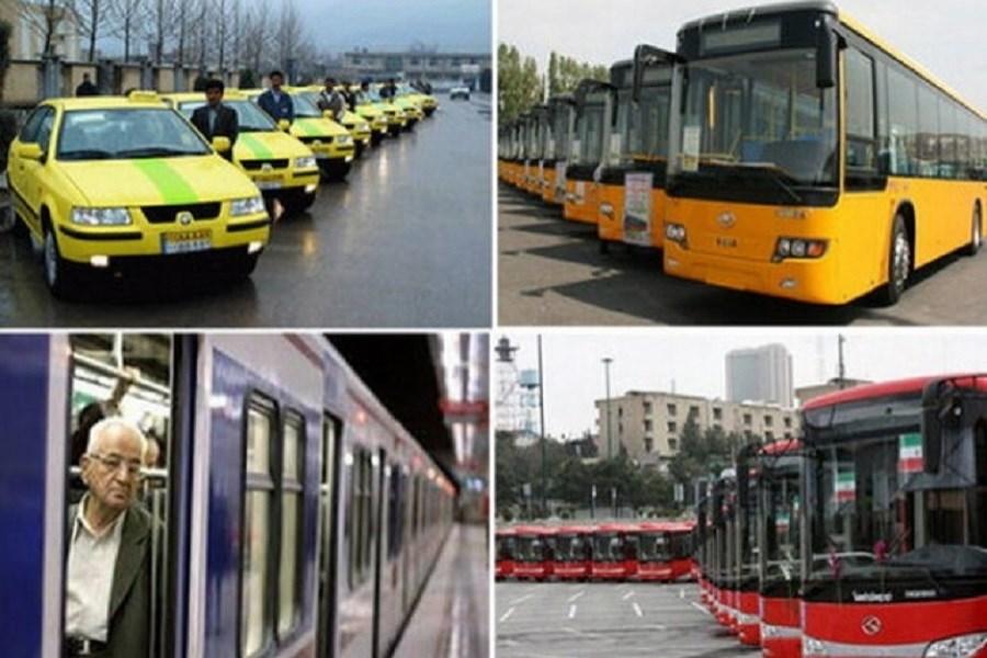 آماده باش ناوگان حمل و نقل عمومی برای روز دوشنبه