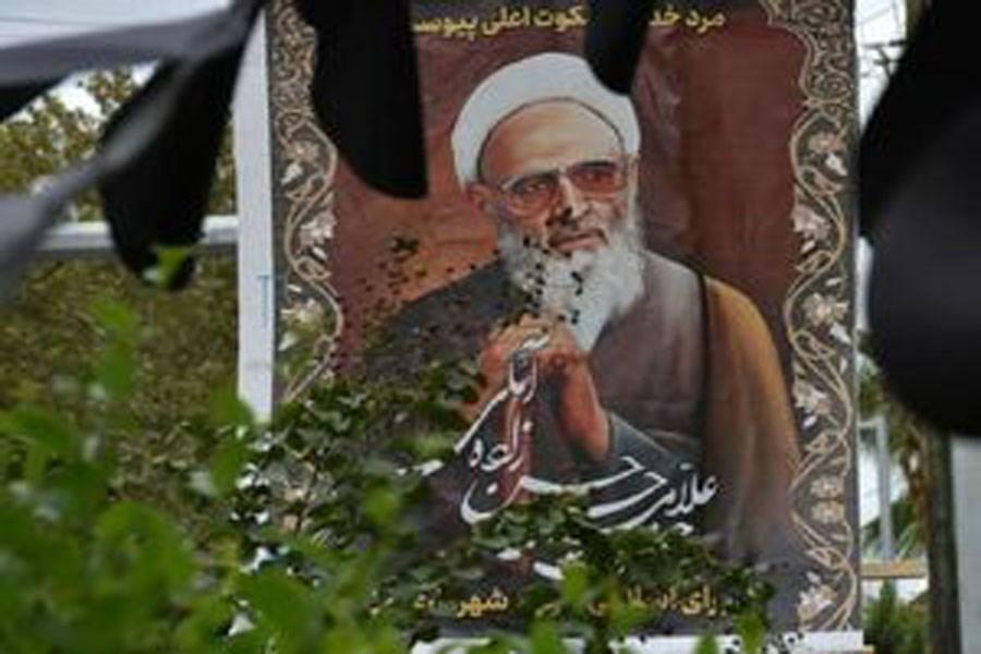 مراسم تشییع علامه حسن زاده آملی در اربعین حسینی +عکس و فیلم