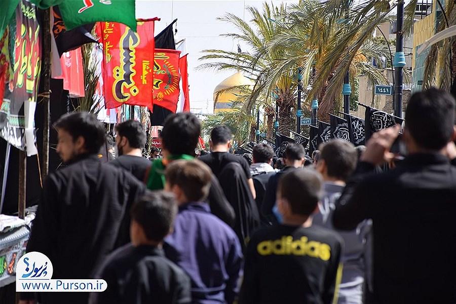 پیاده روی جاماندگان اربعین در بهاباد به یاد کربلا