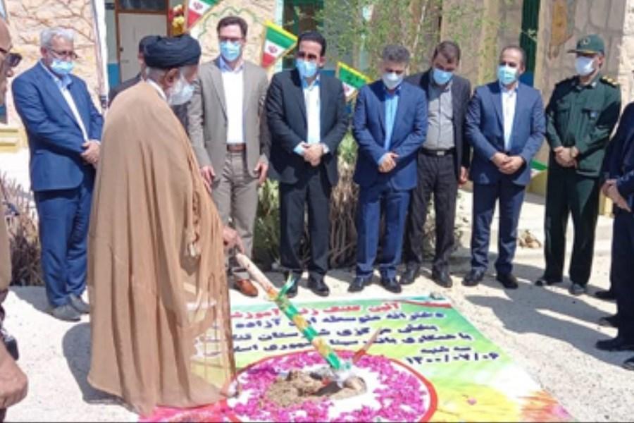 کلنگ احداث سومین مدرسه بانک سینا در شهرستان تنگستان بوشهر زده شد