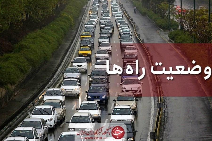 وضعیت تردد در محورهای استان عادی و روان است/ محور گلندرود - کجور مسدود