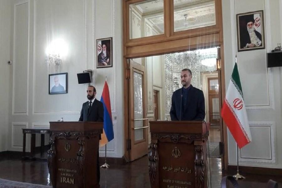 اجازه تخریب روابط ایران و ارمنستان را نمی دهیم/ وجود رژیم صهیونیستی نگرانی جدی است