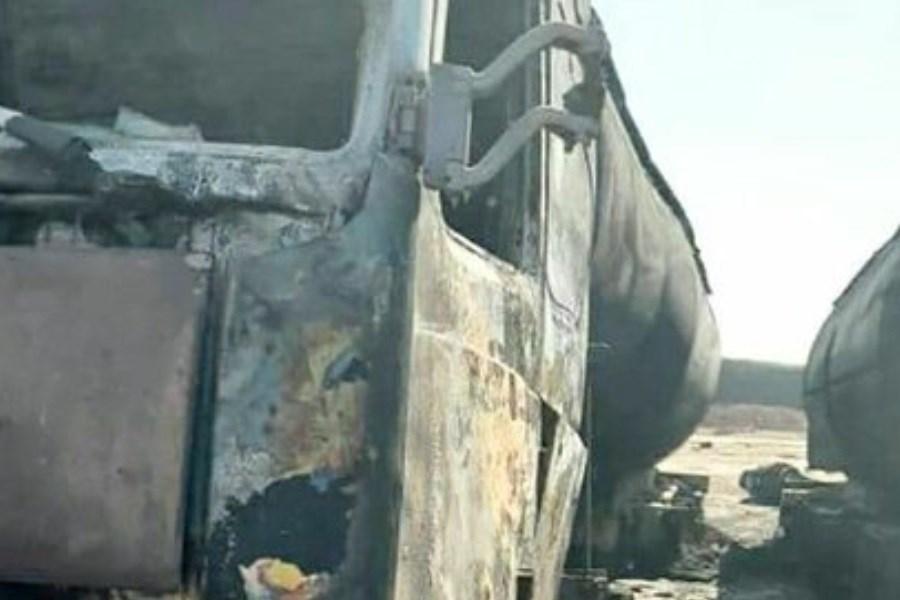 تصویر آتشسوزی در گمرک دوغارون مهار شد