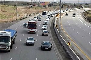 تصویر  ترافیک پرحجم در خروجی های مشهد