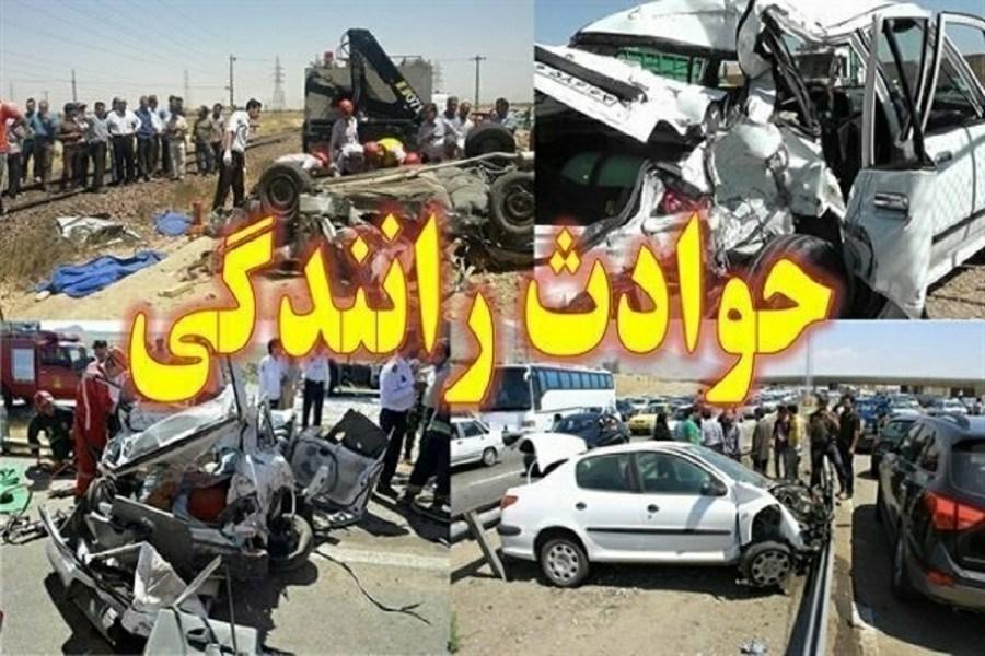 برخورد پراید با کامیون یک کشته و ۲ مصدوم برجای گذاشت