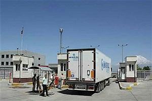 تصویر  تردد وسایل نقلیه باری از پایانههای مرزی جلفا و نوردوز افزایش یافته است