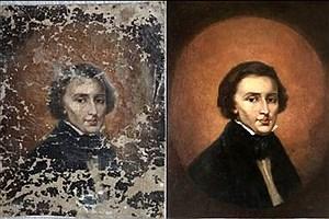 تصویر  کشف اتفاقی یک تابلو با ۱۷۰ سال قدمت