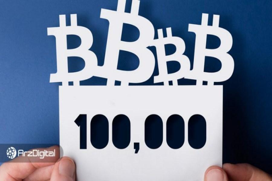 تصویر بیت کوین تا پایان سال جاری میلادی از ۱۰۰,۰۰۰ دلار عبور کند