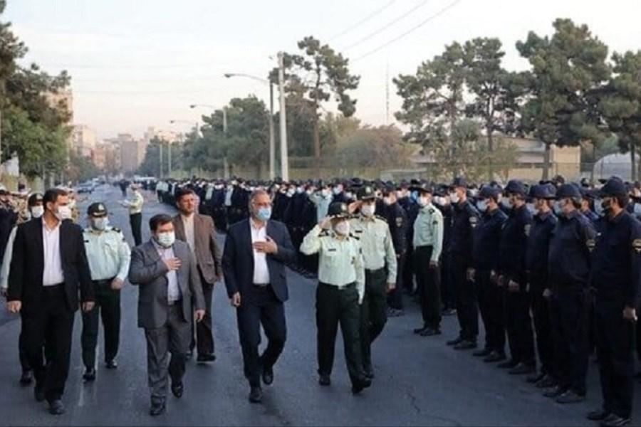 مانور اقتدار یگان حفاظت شهرداری تهران با حضور شهردار
