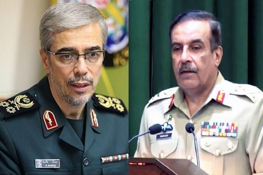 دیدار سرلشکر باقری با رئیس ستاد مشترک ارتش پاکستان
