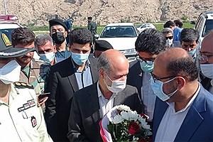 تصویر  وزیر نیرو وارد شهرستان کازرون شد