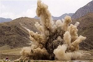 تصویر  انفجار مین به جا مانده از جنگ تحمیلی جوان پاوهای را مجروح کرد