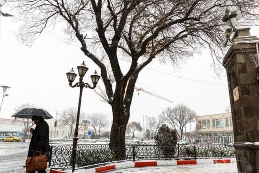 تصویر باران پراکنده برای 5 استان کشور
