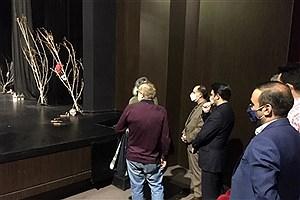 تصویر  بازدید معاون هنری و مدیرکل هنرهای تجسمی از چند نمایشگاه