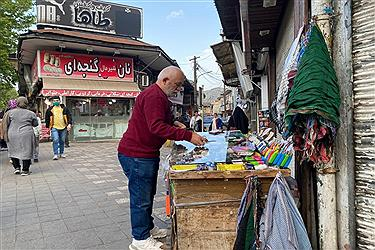 تصویر گزارشی از میدان شهرداری و بازار روز رشت در دوران کرونا، فروردین ۱۴۰۰