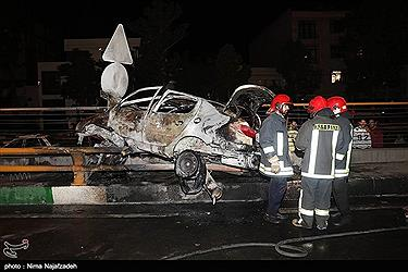 تصویر تصادف مرگبار در مشهد