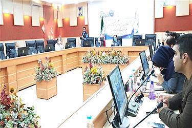 تصویر نشست خبری رئیس دانشگاه آزاد واحد نجف آباد