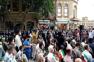 تصویر جشن حضور در انتخابات در همدان